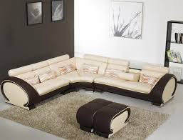 Modern Leather Sectional Sofa Modern Beige Leather Sectional Sofa