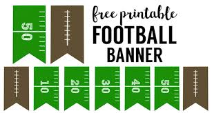 football decorations football banner free printable football party paper trail design