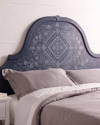 batik pattern stenciled headboard martha stewart
