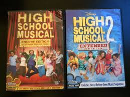 high school high dvd lot of 2 disney high school musical 1 and 2 encore edition dvd