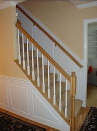 Oak Banister Rail Wainscoting Built Ins And Mouldings Mitre Contracting Inc