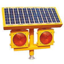 solar powered runway lights solar led runway guard light rgl flight light inc