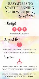 steps to planning a wedding 3 easy steps to start planning your wedding the right way