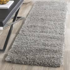 Plush Runner Rugs Safavieh California Cozy Plush Silver Shag Runner Rug 2 3 X 17