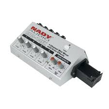 amazon com nady mm 14fx 4 channel microphone mixer with