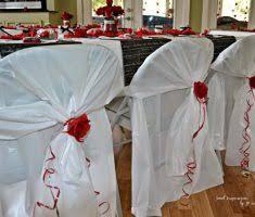White Folding Chair Covers Minimalist Bridal Folding Chair Covers With Red Ribbon