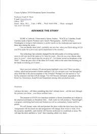 Resume Format For Journalism Jobs by Cover Letter Broadcast Journalism Examples