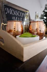 christmas moscow mule and diy plaid tray 2 bees in a pod
