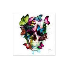 diy 5d embroidery painting skull butterfly cross stitch