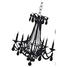 Chandelier Wall Decal Roommates 36 In X 25 In Chandelier With Gems Peel And Stick