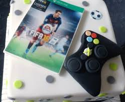 fifa themed cake for an xbox fan children u0027s birthday cakes