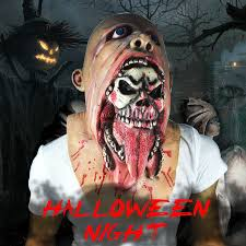 halloween bloody zombie mask melting face latex costume