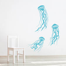 wall decoration jellyfish wall decal lovely home decoration and