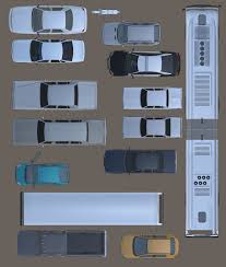2d cars vehicules furniture floorplan top view psd 3d model 3d model
