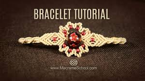 beaded bracelet tutorials youtube images Big bead flower bracelet tutorial by macrame school jpg