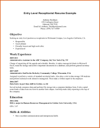 human resource management resume examples skills for receptionist resume free resume example and writing receptionist resume sample entry level receptionist resume example