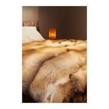 Fox Fur Blanket Fur Blanket Throw Real Fox Golden Island Handmade By Furhome Kastoria