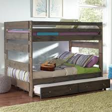 Twin Over Twin Bunk Beds With Trundle by 1031 15 Wrangle Hill Full Over Full Bunk Bed With Trundle Gun