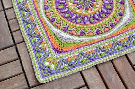 Beautiful Purple Motifs Large Crochet Squares Or Second Life Of Dandelion Mandala
