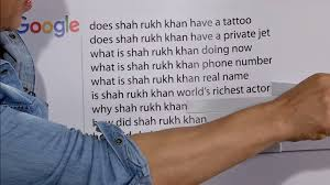 rukh khan answered the most googled questions about himself