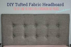 Diy Fabric Tufted Headboard by Diy Tufted Headboard With Free Printable Directions Jpg