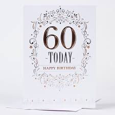 60 Birthday Cards 60th Birthday Card Traditional Only 59p