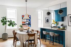 kitchen cabinets open floor plan home design ideas blue kitchen cabinetry and a trick