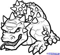 how to draw bash skylanders step coloring pages photo shared by