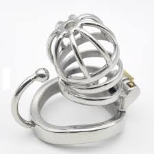 small metal rings images Prison bird stainless steel male chastity small cage with base arc jpg