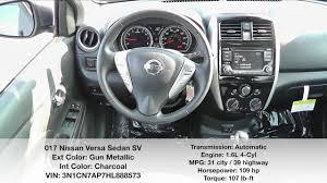 nissan versa fuel economy universal nissan 2017 nissan versa sedan sv stock 888573 youtube