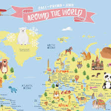 World Map Cartoon by World Map Kids U2013 Daydream Republic
