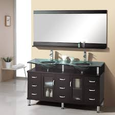 traditional bathroom with black cabinet and dark vanity spacious