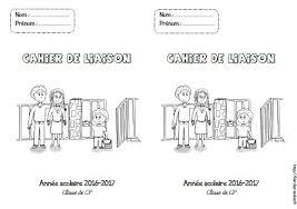 Page de garde  cahier de liaison  GSCPCE1CE2CM1CM2  Fée des