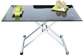 bureau relevable bureau en verre trempac noir bureau table verre bureau verre noir