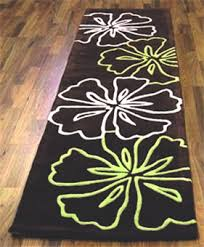 Floral Runner Rug Infinite Atria Brown Lime Green White Floral Rug Buy Rugs
