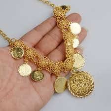 design necklace charm images Anniyo new design charm arab coin necklaces for women 39 s gold color jpg