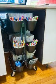 ikea raskog cart organization creative ideas for organizing your scrapbook supplies using the