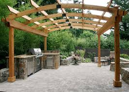 download pergola outdoor kitchen garden design