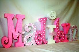 baby nursery decor best wall letters for names in baby nursery