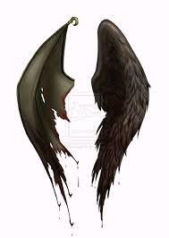 half half tattoos wings designs