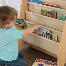 Sling Bookcase White by Sling Bookshelf Natural