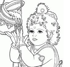 baby krishna coloring pages getcoloringpages com