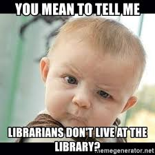 Meme Library - showing library memes and giving a talk on what s a librarian to