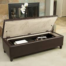 wonderful storage ottoman with tray coaster contemporary brown