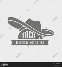 tacos vector logo design template mexican restaurant or fast food