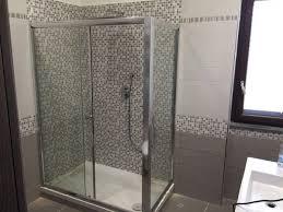 piatto doccia 65x120 box doccia cristallo 6 mm 2 lati fisso piu scorrevole