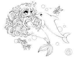chibi mermaid coloring pages coloring pages ideas