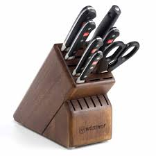 essential kitchen knives wusthof classic 8 piece deluxe knife block set 8408 j l hufford