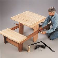 Free Plans For Outdoor Picnic Tables by Best 10 Diy Picnic Table Ideas On Pinterest Outdoor Tables