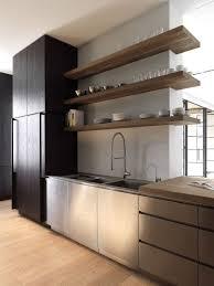 kitchen stunning modern open kitchen shelves basement exposed